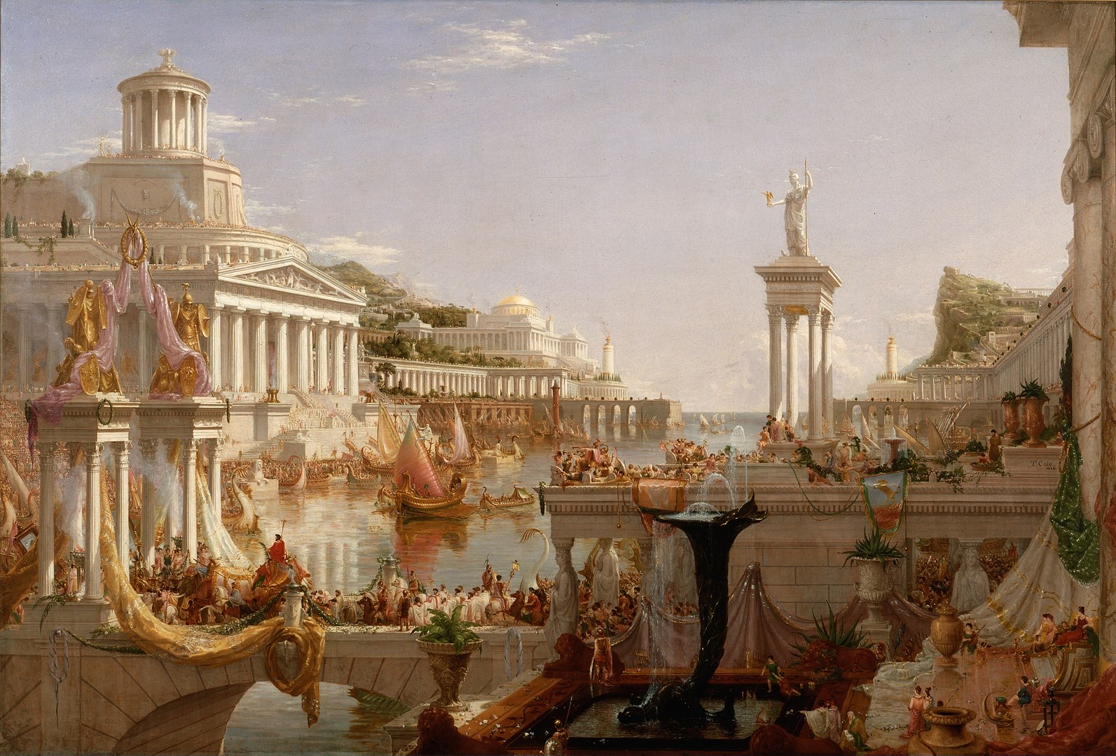 1593px Cole Thomas The Consummation The Course of the Empire 1836
