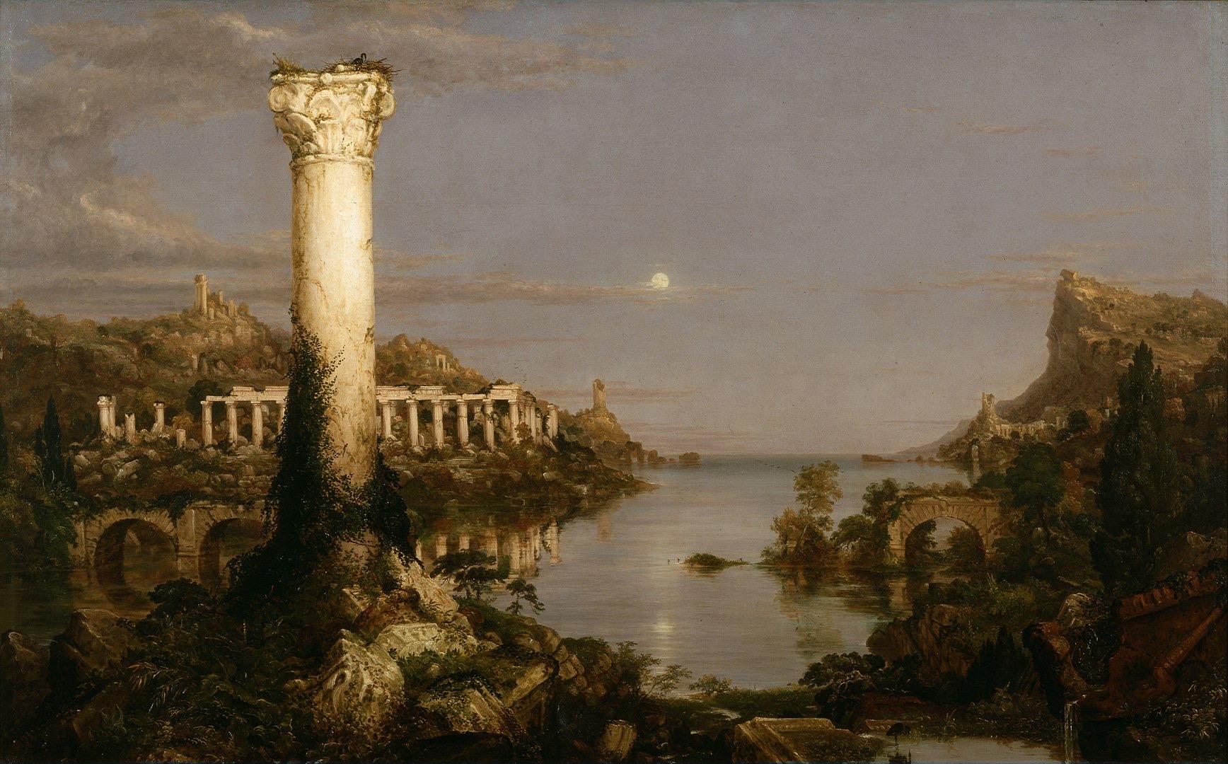 1736px Cole Thomas The Course of Empire Desolation 1836