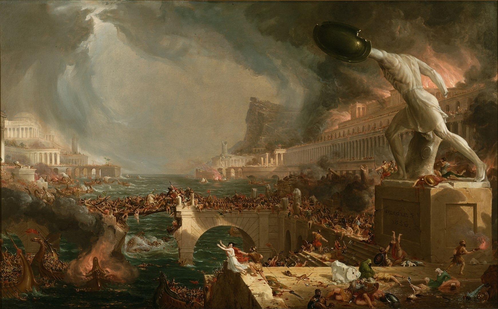 1741px Cole Thomas The Course of Empire Destruction 1836