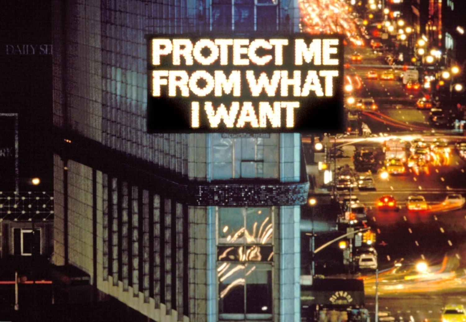 Jenny holzer protect me from what i want survival 1983 85 1985 aware women artists artistes femmes 1500x1039